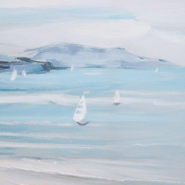 Cuadro pintura paisaje marinero playa 120 cm IX152698