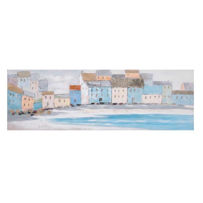 Cuadro paisaje pintura marinero playa 150 cm IX152699