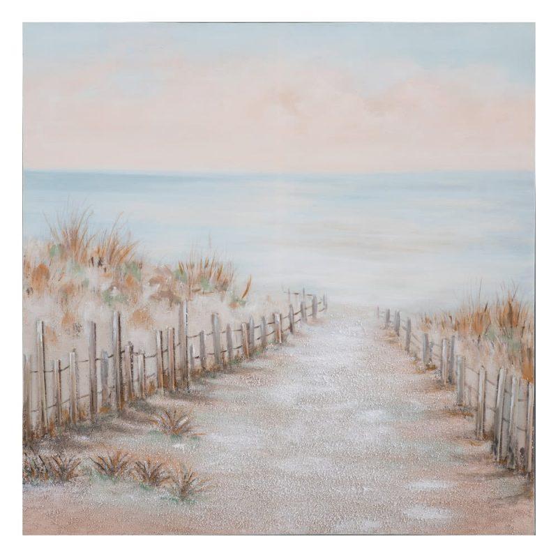 Cuadro pintura paisaje mar playa 100 cm IX152701