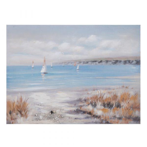 Cuadro paisaje pintura mar playa 120 cm IX152704