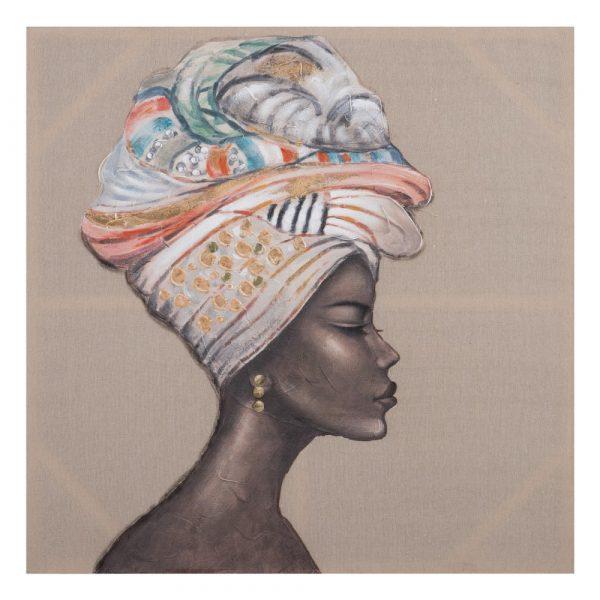 Cuadros África pintura mujer, juego de 2 IX152705