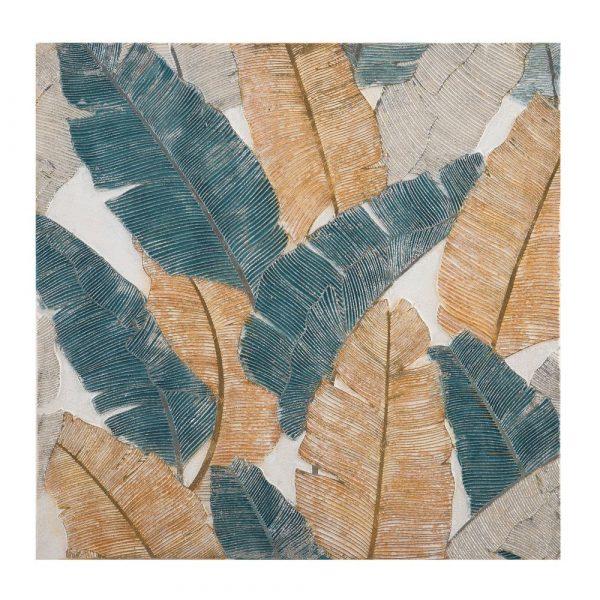 Cuadro pintura naturaleza moderno hojas 100 cm IX152710