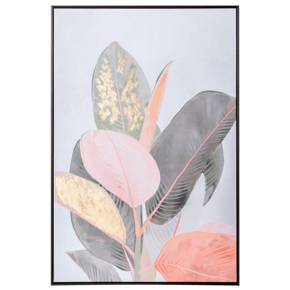 Cuadro naturaleza moderno hojas 122 cm IX153121