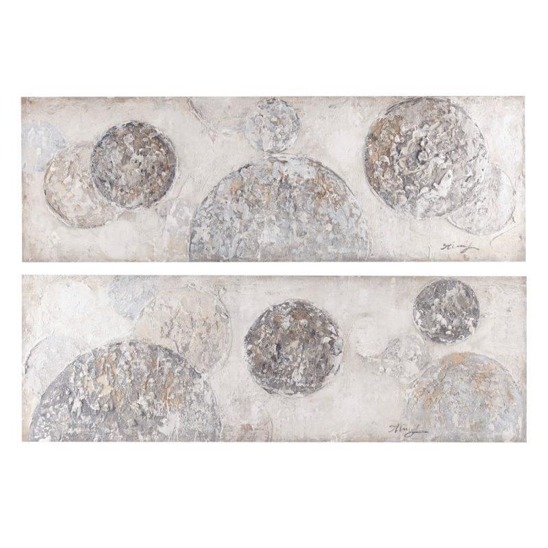 Cuadros pinturas abstractas modernas, juego de 2 IX153139
