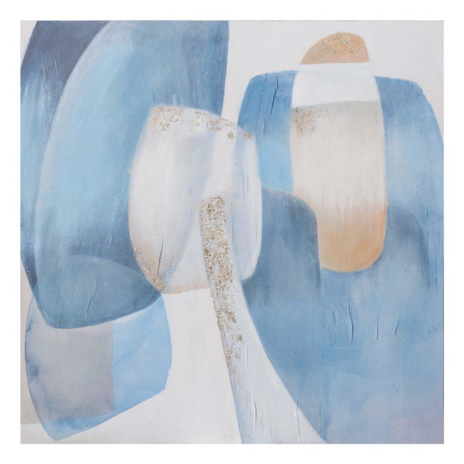 Cuadro decoración abstracto moderno azul IX153194