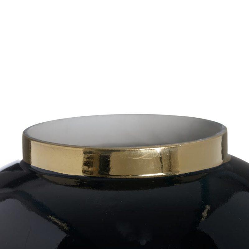Jarrón chino oriental negro oro 37 cm IX153811