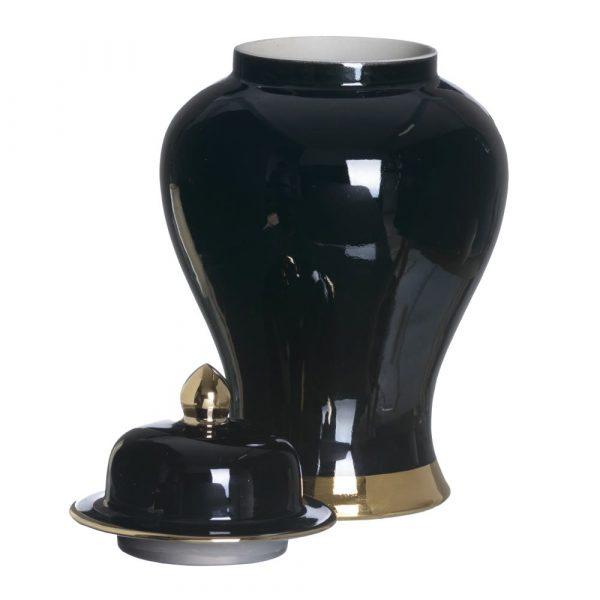 Jarrón chino oriental negro oro 55 cm IX153812