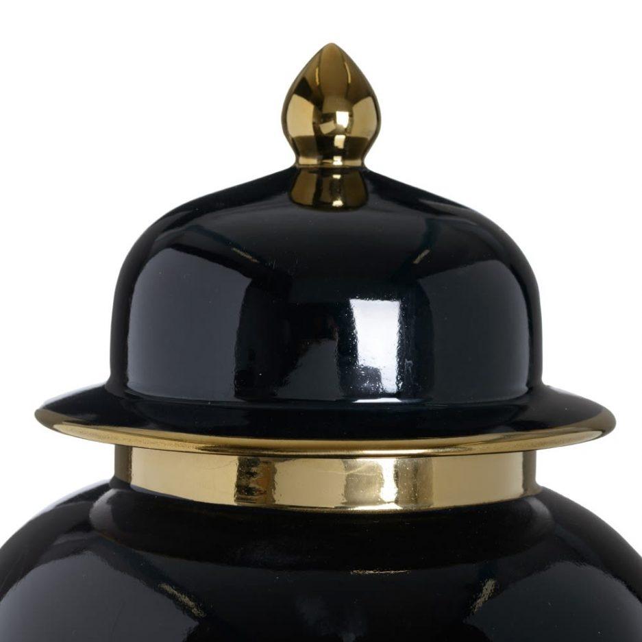 Jarrón chino oriental negro oro 65 cm IX153813