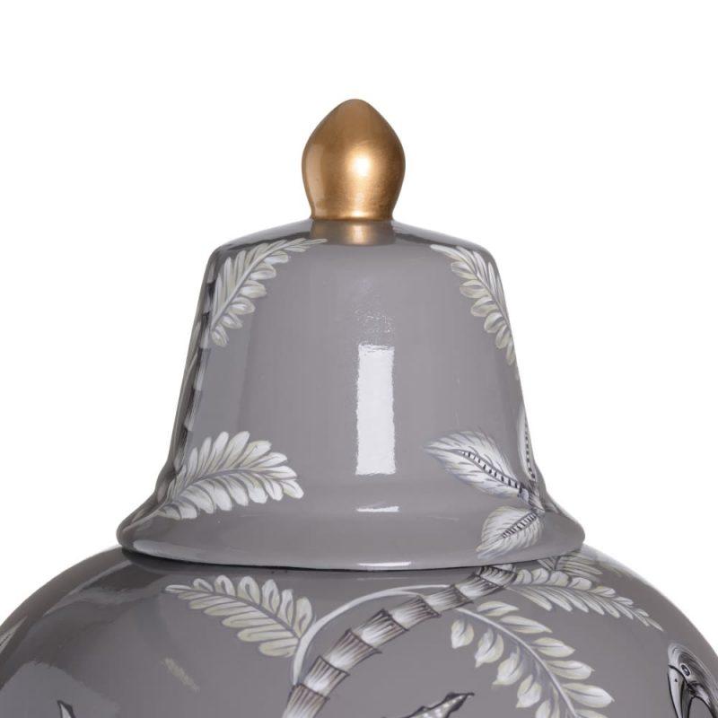 Jarrón chino oriental gris Hou 72 cm IX154021