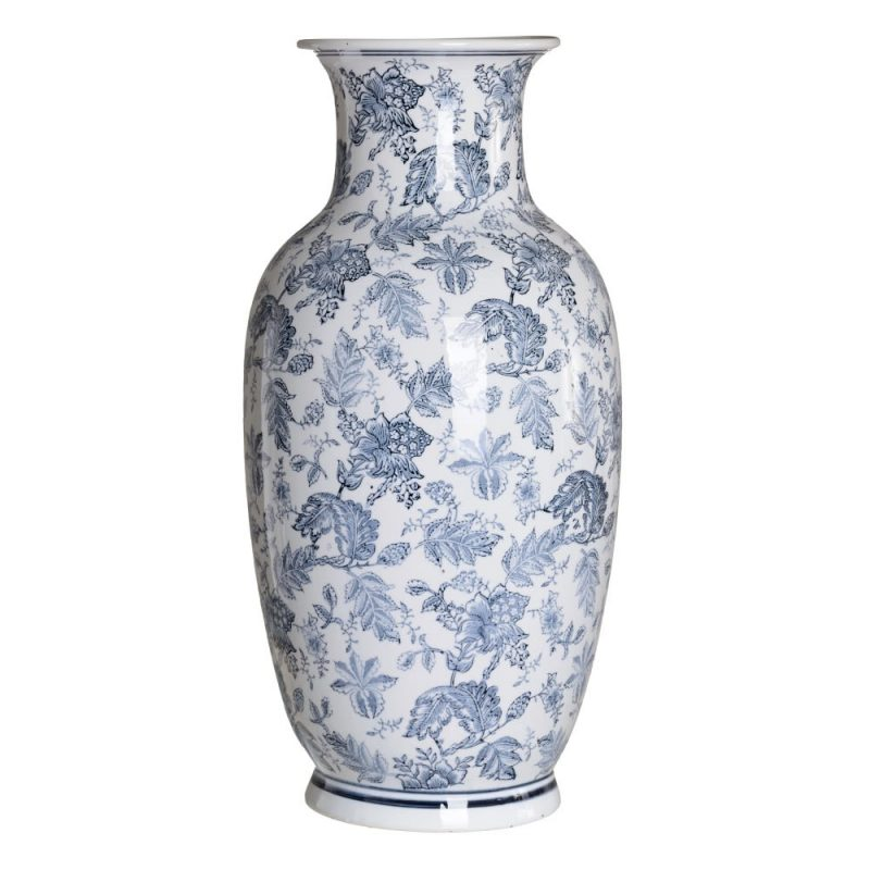 Jarrón chino oriental blanco azul Huangmei 68 cm IX154085