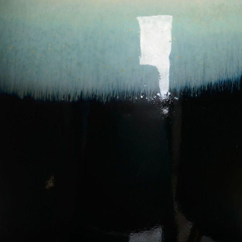 Jarrón decorativo tibor blanco azul 42 cm IX154154