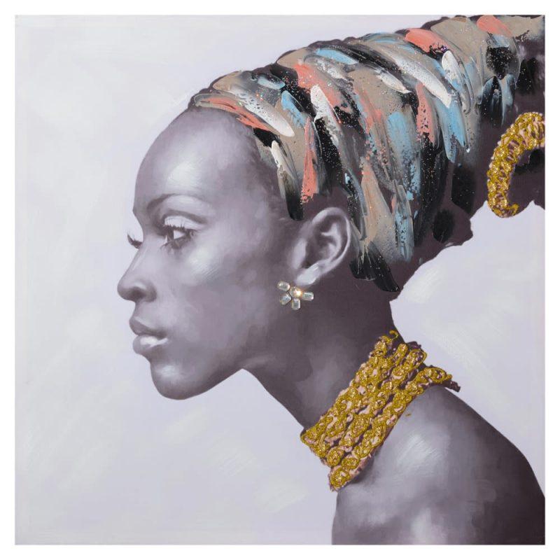 Cuadro mujer africana 80 cm IX154364