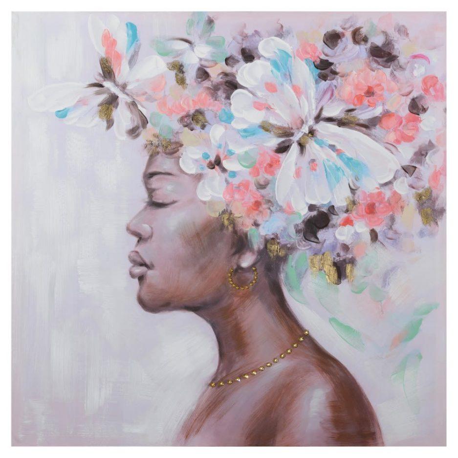 Cuadro mujer africana 80 cm IX154365