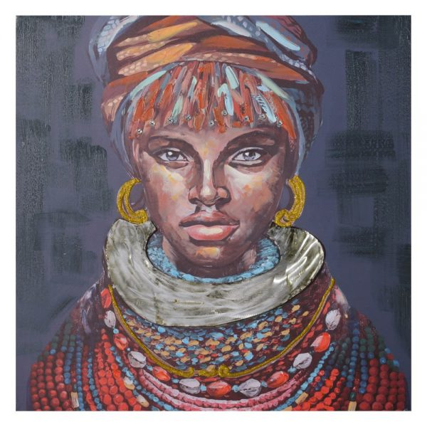 Cuadro mujer africana 80 cm IX154368