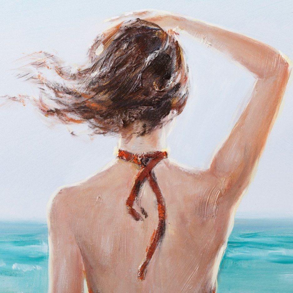 Cuadro decorativo pintura mujer 90 cm IX108343