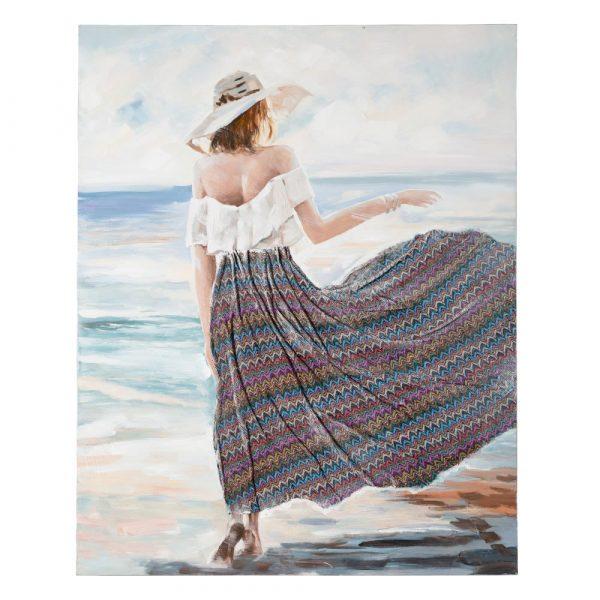 Cuadro decorativo pintura mujer 150 cm IX151606