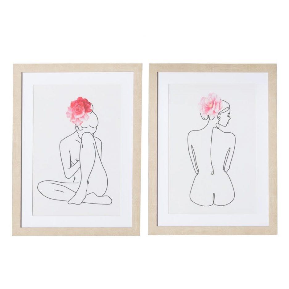 Cuadros decorativos desnudos mujer 60 cm IX151618