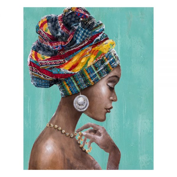 Cuadro África mujer africana 100 cm IX600413
