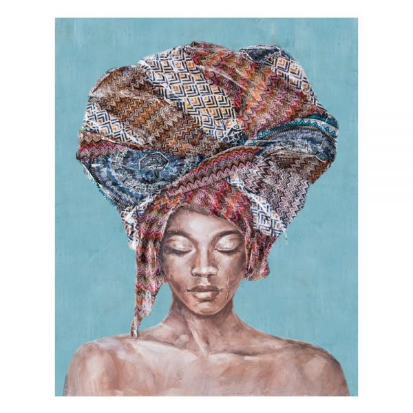 Cuadro decorativo África mujer africana 100 cm IX600414