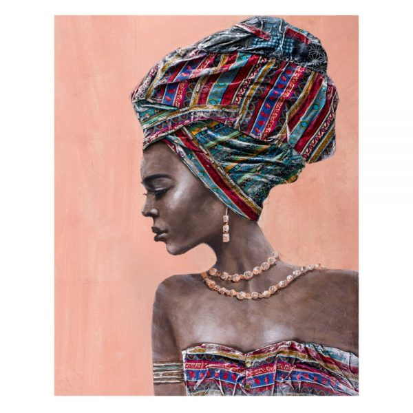 Cuadro África decoración mujer africana 100 cm IX600415