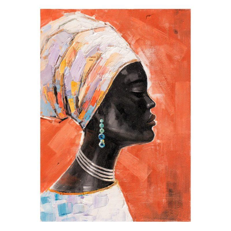 Pintura africana cuadro mujer 100 cm IX600417