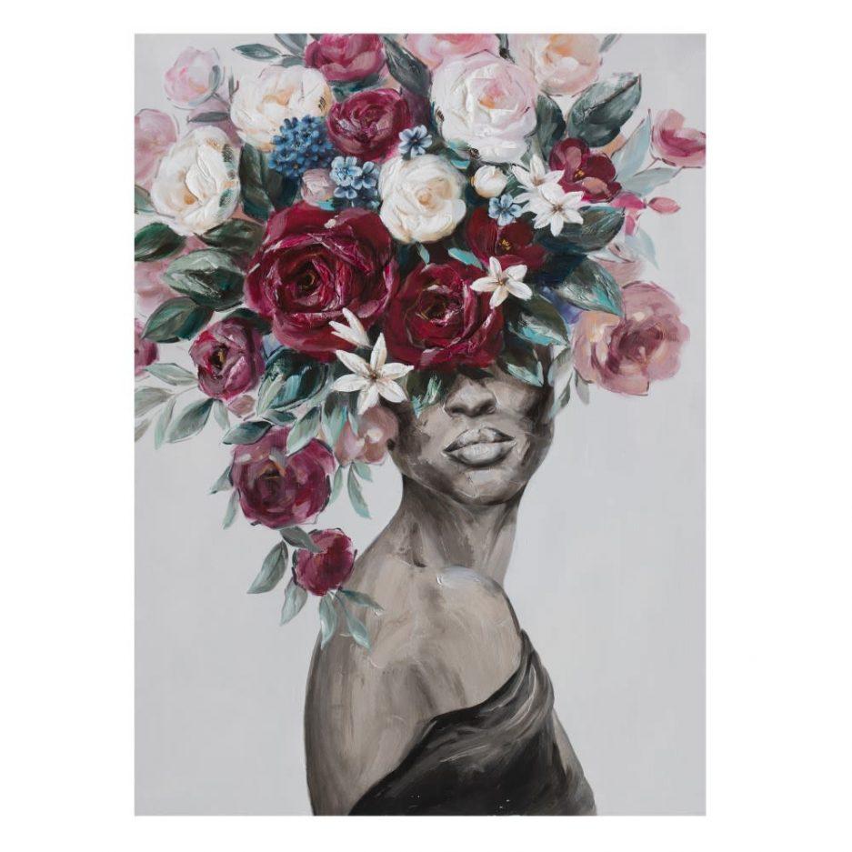 Cuadro mujer africana 120 cm IX600422