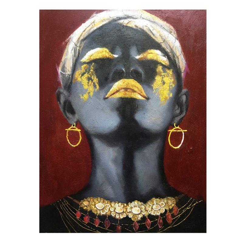 Cuadro mujer africana 100 cm IX600746