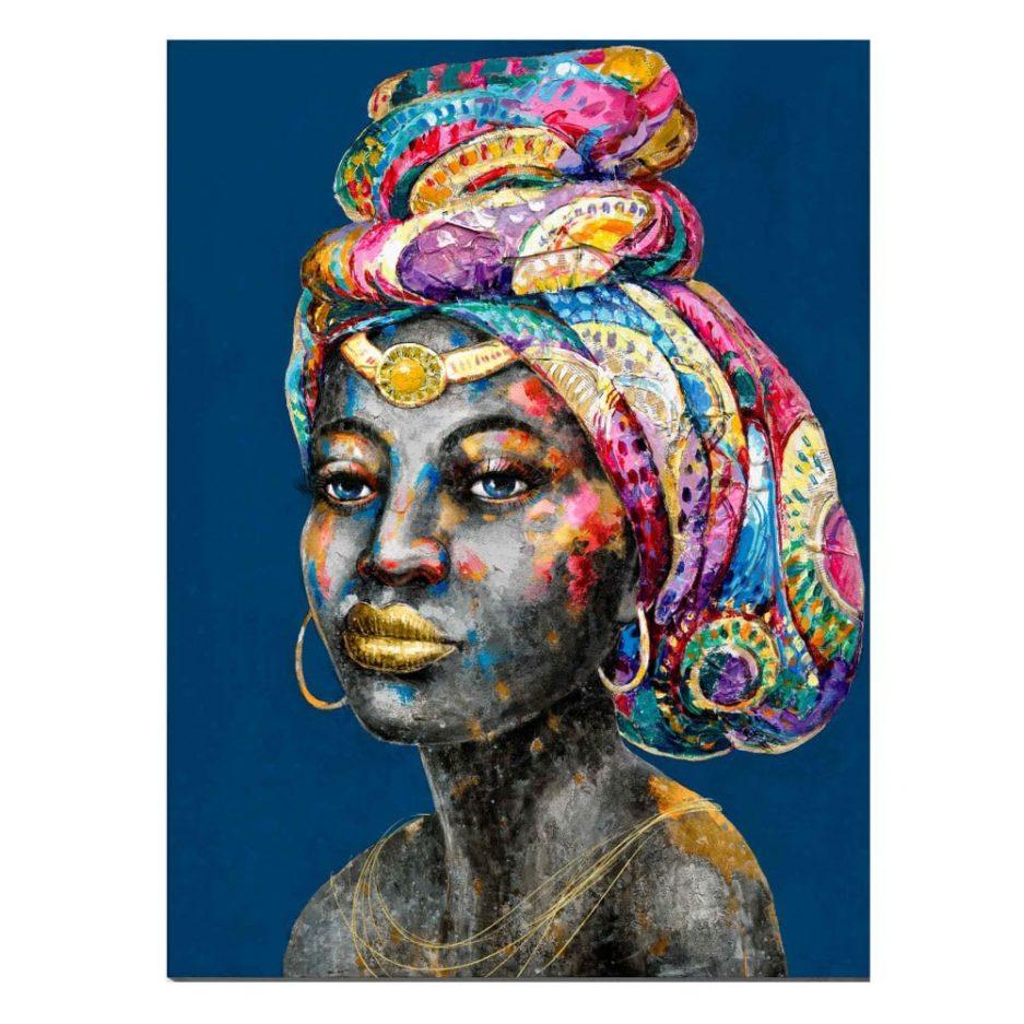 Cuadro mujer africana 100 cm IX600749