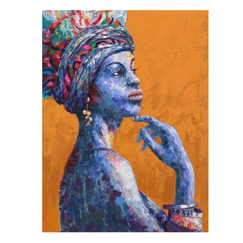 Cuadro pintura mujer africana 100 cm IX600751