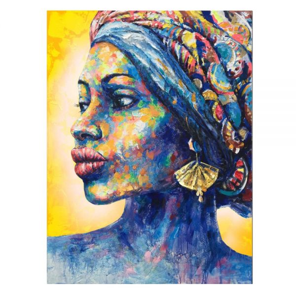 Cuadro pintura mujer africana 100 cm IX600752